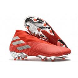 Zapatillas de Fútbol Adidas Nemeziz 19+ FG - Rojo Plata