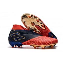 Zapatillas de Fútbol Adidas Nemeziz 19+ FG - Spider-Man Rojo Negro