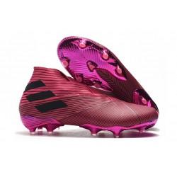 Zapatillas de Fútbol Adidas Nemeziz 19+ FG - Rosa Negro