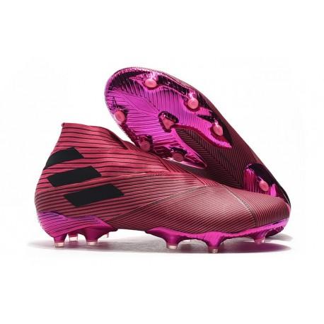 Todo el mundo Piquete miel  Zapatillas de Fútbol Adidas Nemeziz 19+ FG - Rosa Negro