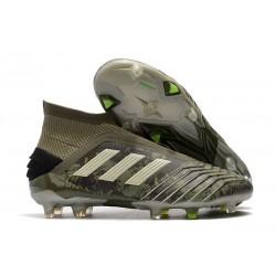 adidas Predator 19+ FG Zapatos de Fútbol - Verde Arena Amarillo