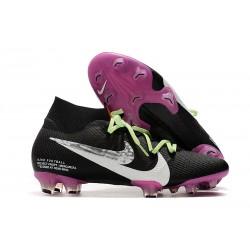 Bota de Fútbol Nike Mercurial Superfly 7 Elite FG Negro Violeta Blanco