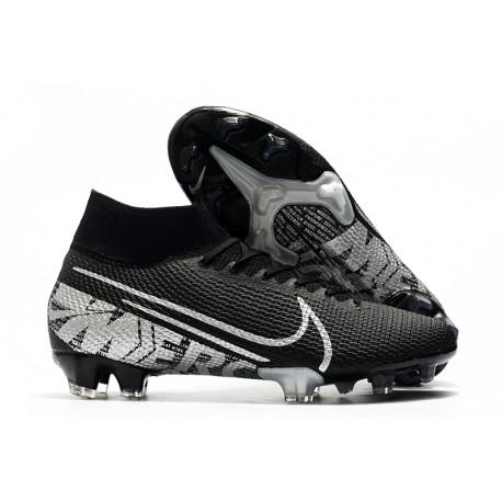 Bota de Fútbol Nike Mercurial Superfly 7 Elite FG Negro Gris