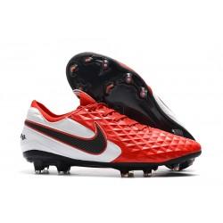 Zapatos de Fútbol Nike Tiempo Legend VIII Elite FG Rojo Blanco Negro