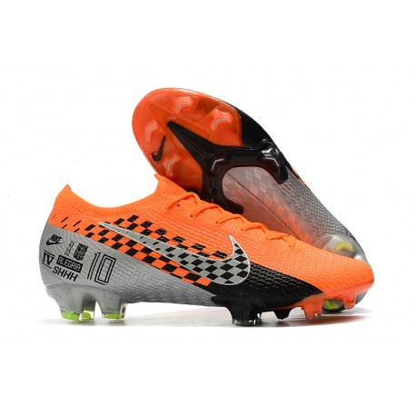 Nike Mercurial Vapor 13 Elite FG Botas de Fútbol Naranja Cromo Negro