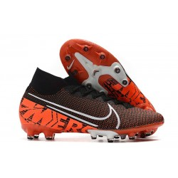 NIKE MERCURIAL SUPERFLY 7 ELITE AG-PRO Negro Blanco Hyper Crimson