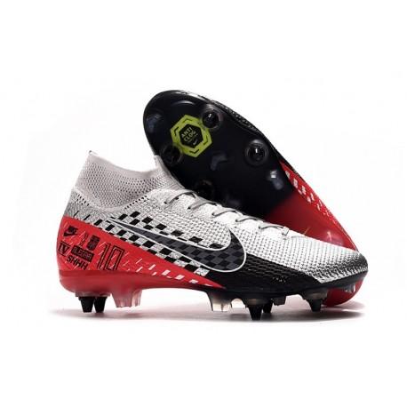 Nike Mercurial Superfly 7 Elite AC SG-Pro Neymar Cromado Negro Rojo Platino