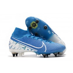 Nike Mercurial Superfly 7 Elite AC SG-Pro Azul Blanco