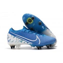 Botas Nike Mercurial Vapor 13 Elite SG-Pro New Lights Azul Blanco