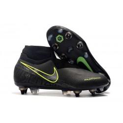 Nike Phantom Vision Elite DF ACC Anti-Clog SG-Pro Negro Amarillo Fluorescente