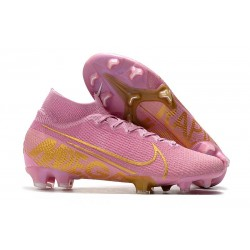 Bota de Fútbol Nike Mercurial Superfly 7 Elite FG Rosa Oro