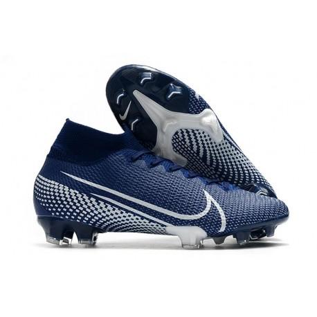 Bota de Fútbol Nike Mercurial Superfly 7 Elite FG Azul Blanco