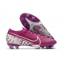 Nike Mercurial Vapor 13 Elite FG Botas de Fútbol Violeta Blanco