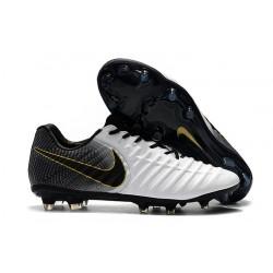 Nike Tiempo Legend VII FG Botas de Fútbol Con Tacos - Blanco Negro
