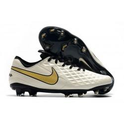 Zapatos de Fútbol Nike Tiempo Legend VIII Elite FG Blanco Oro