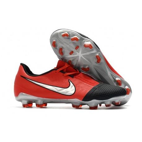 Nike Zapatos de Futbol Phantom Venom Elite FG Láser Crimson Plata Negro