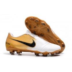 Nike Zapatos de Futbol Phantom Venom Elite FG Blanco Oro Negro