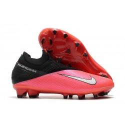 Nike Tacos 2020 Phantom VSN II Elite DF FG -Laser Crimson Plata Negro