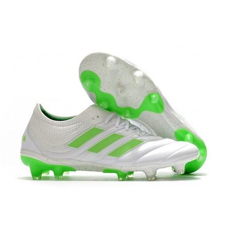 Zapatillas de Fútbol adidas Copa 19.1 FG -Blanco Negro Verde