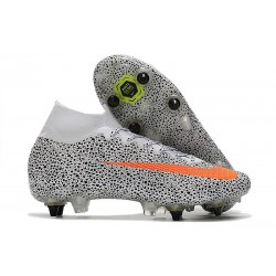 Nike Mercurial Superfly VII Elite SG AC CR7 Blanco Total Naranja Negro