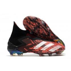 Bota de Fútbol adidas Predator Mutator 20+ FG Negro Blanco Rojo