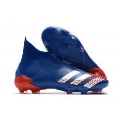 Bota de Fútbol adidas Predator Mutator 20+ FG Azul Blanco Rojo