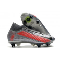 Nike Mercurial Superfly VII Elite SG PRO AC Neighbourhood - Gris Plata
