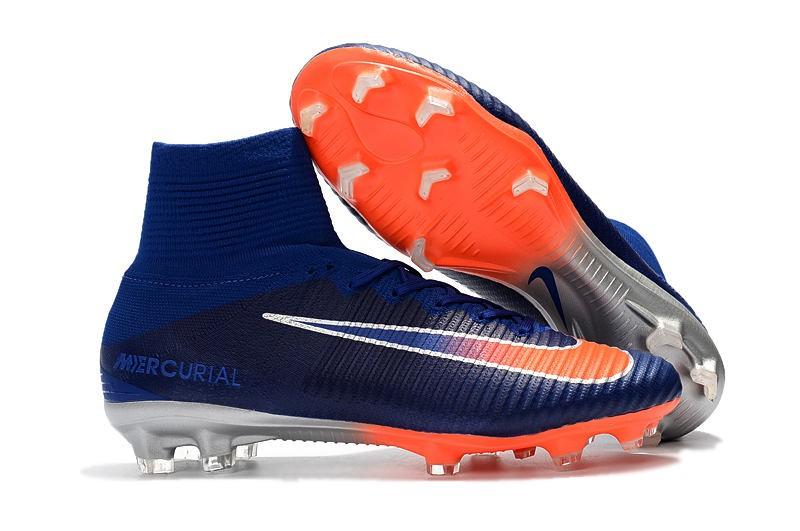 precio favorable moda atractiva muy baratas Nike Mercurial Superfly 5 FG Adulto Bota de Fútbol -Azul Naranja