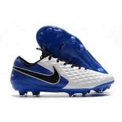 Nike Canguro Tiempo Legend 8 Elite FG Blanco Azul Negro