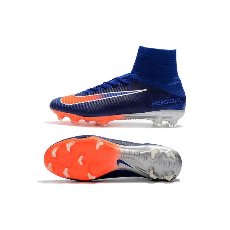 Medieval responder danza  Nike Mercurial Superfly 5 FG Adulto Bota de Fútbol -Azul Naranja