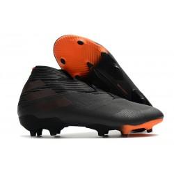 Adidas Botas de Fútbol Nemeziz 19+ FG - Negro Naranja Señal