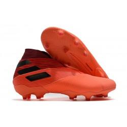 Adidas Botas de Fútbol Nemeziz 19+ FG - Signal Coral Negro Rojo Gloria